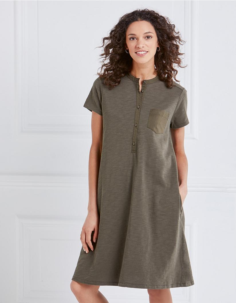 purchase original detailed look enjoy clearance price Jersey Pocket Detail Shirt Dress