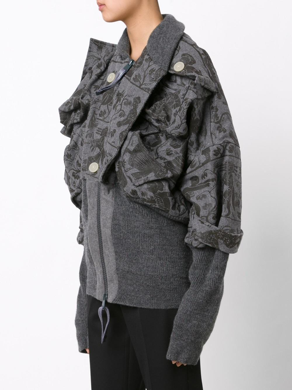 c0846a48a Vivienne Westwood Anglomania Gray Mini 'clint Eastwood' Bomber Jacket