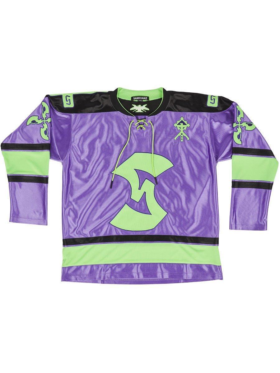 meet 53af0 45c89 Men's Purple Oversized Hockey Jersey