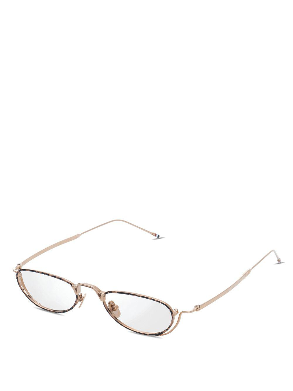 6a5c96f10c1 Thom Browne White Gold   Tortoise Glasses in Metallic for Men - Lyst