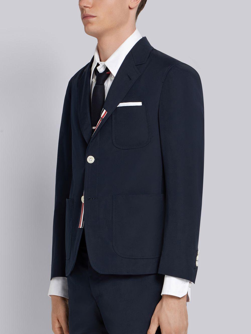 fe37cbab398a Thom Browne - Blue Typewriter Cloth Sack Sport Coat for Men - Lyst. View  fullscreen