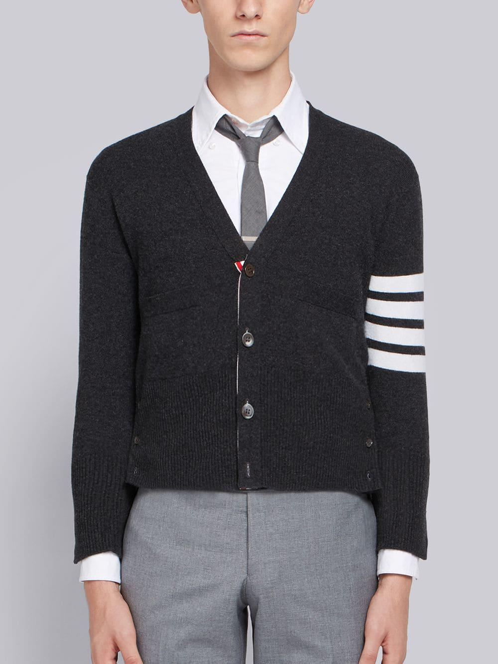 5c36f8f01f Lyst - Thom Browne 4-bar Cashmere Cardigan in Gray for Men - Save 2%