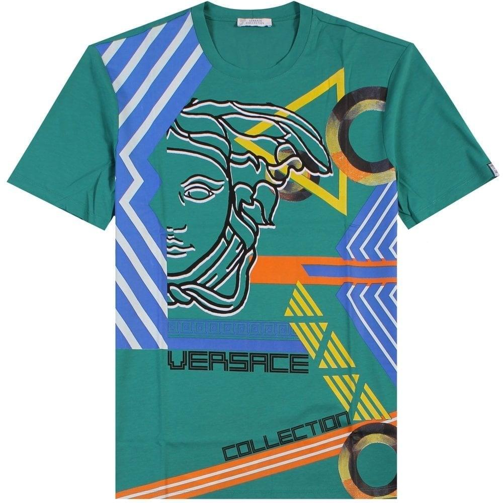 619523ed1 Versace - Blue Collection Medusa Graphic Print T-shirt Teal for Men - Lyst.  View fullscreen