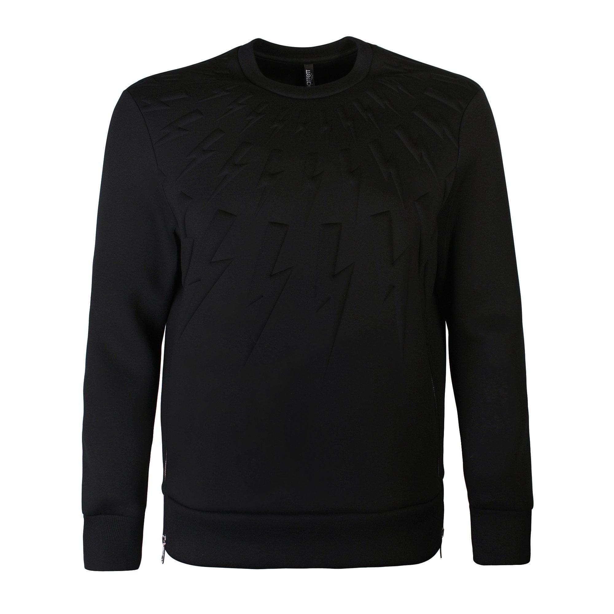 58fc2cf87 Neil Barrett Black Neoprene Lightning Bolt Sweatshirt in Black for ...