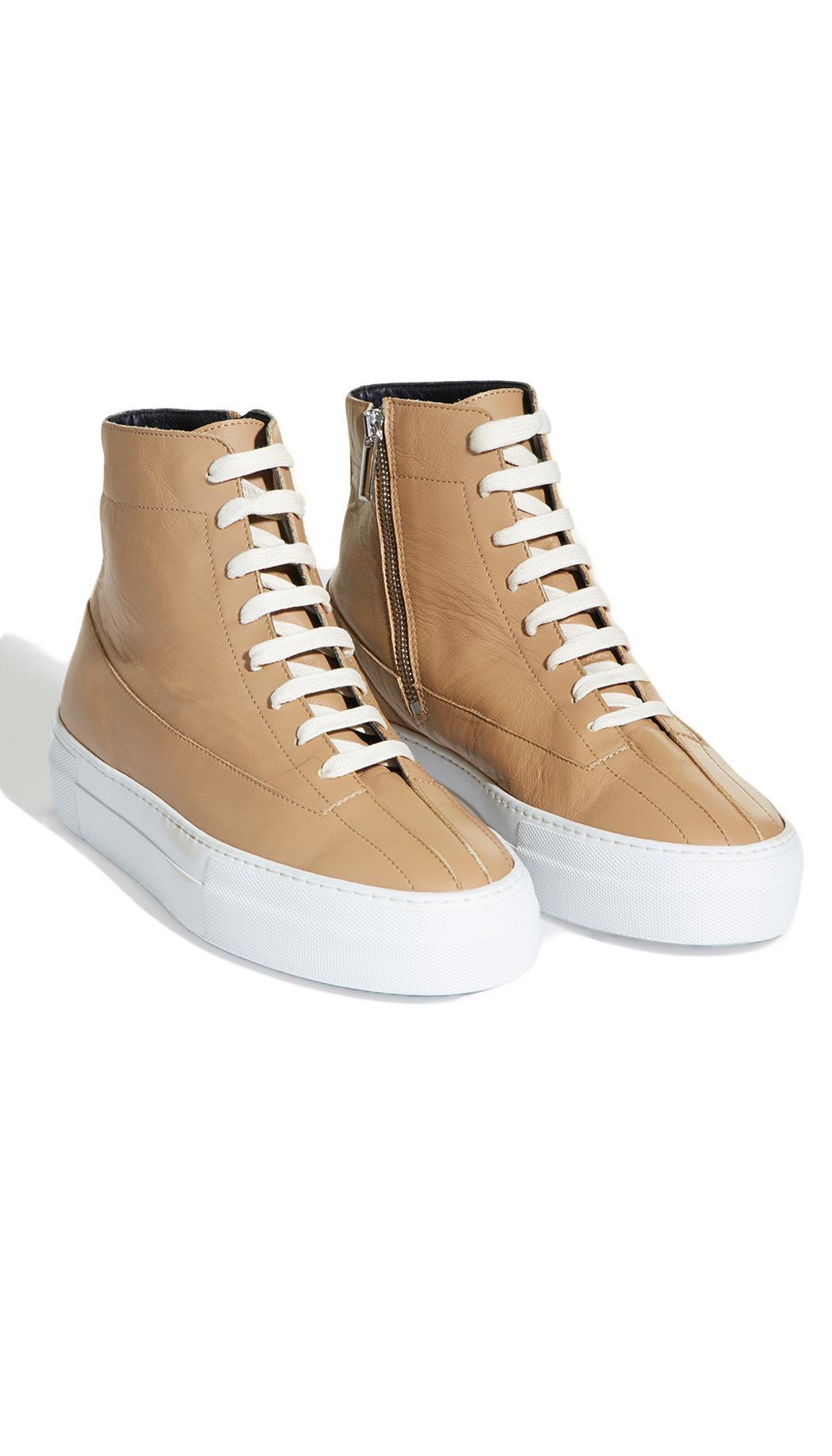 Tibi Leather Gabe Sneakers
