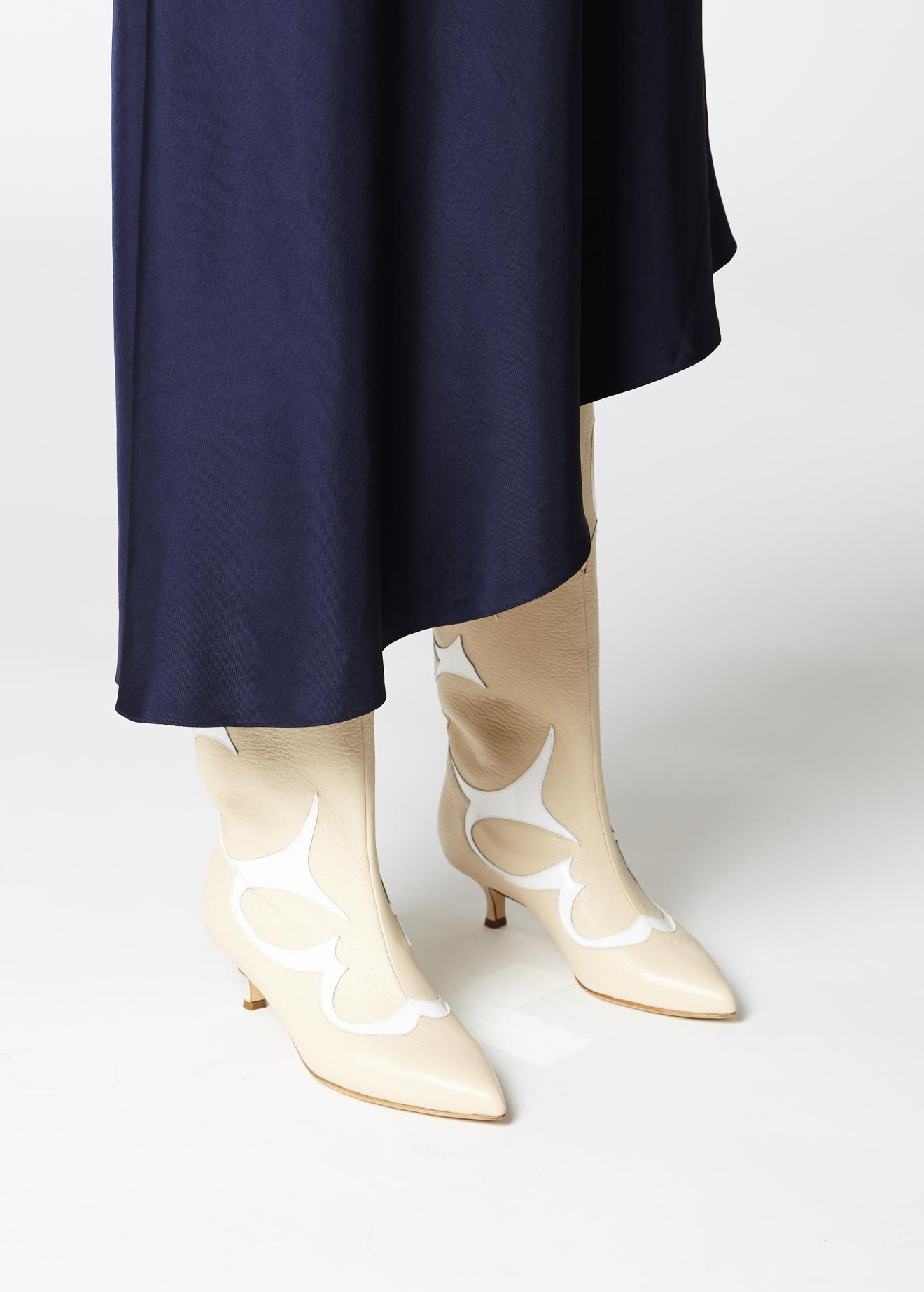 Tibi Leather Jagger Boots