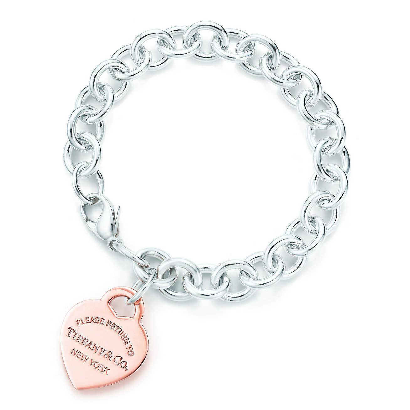 65d1913ed76c Tiffany   Co. Heart Tag Bracelet in Metallic - Lyst