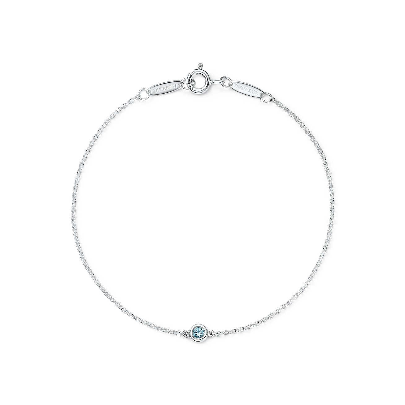 34b3f2c0c62b2 Women's Metallic Elsa Peretti® Colour By The Yard Bracelet In Sterling  Silver With An Aquamarine