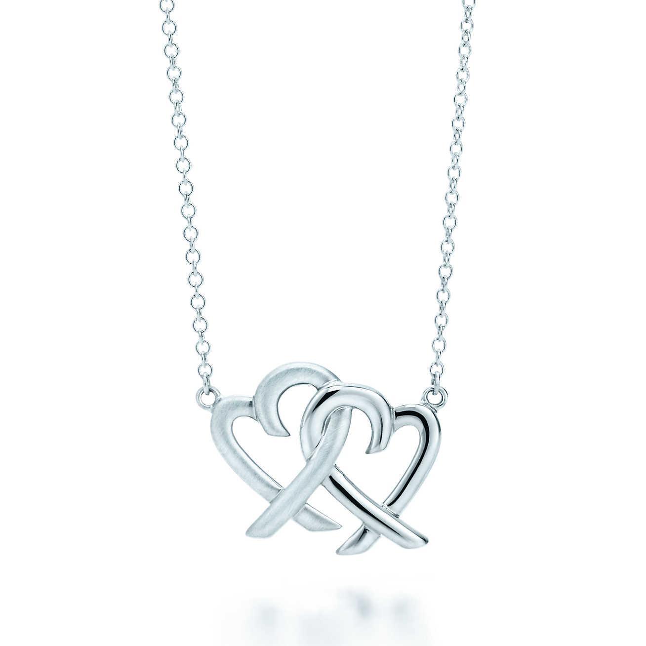 Tiffany co loving heart interlocking pendant in metallic lyst tiffany co womens metallic loving heart interlocking pendant aloadofball Gallery