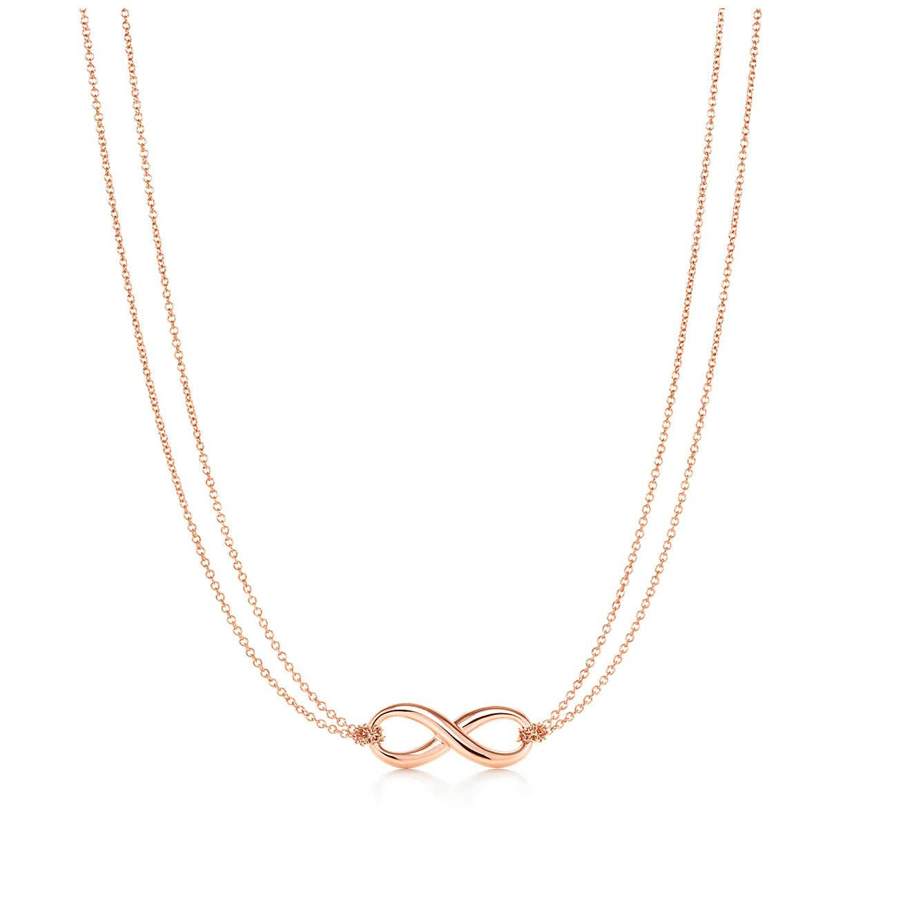9a6a5db55 Tiffany & Co. Tiffany Infinity Pendant In 18k Rose Gold in Pink - Lyst