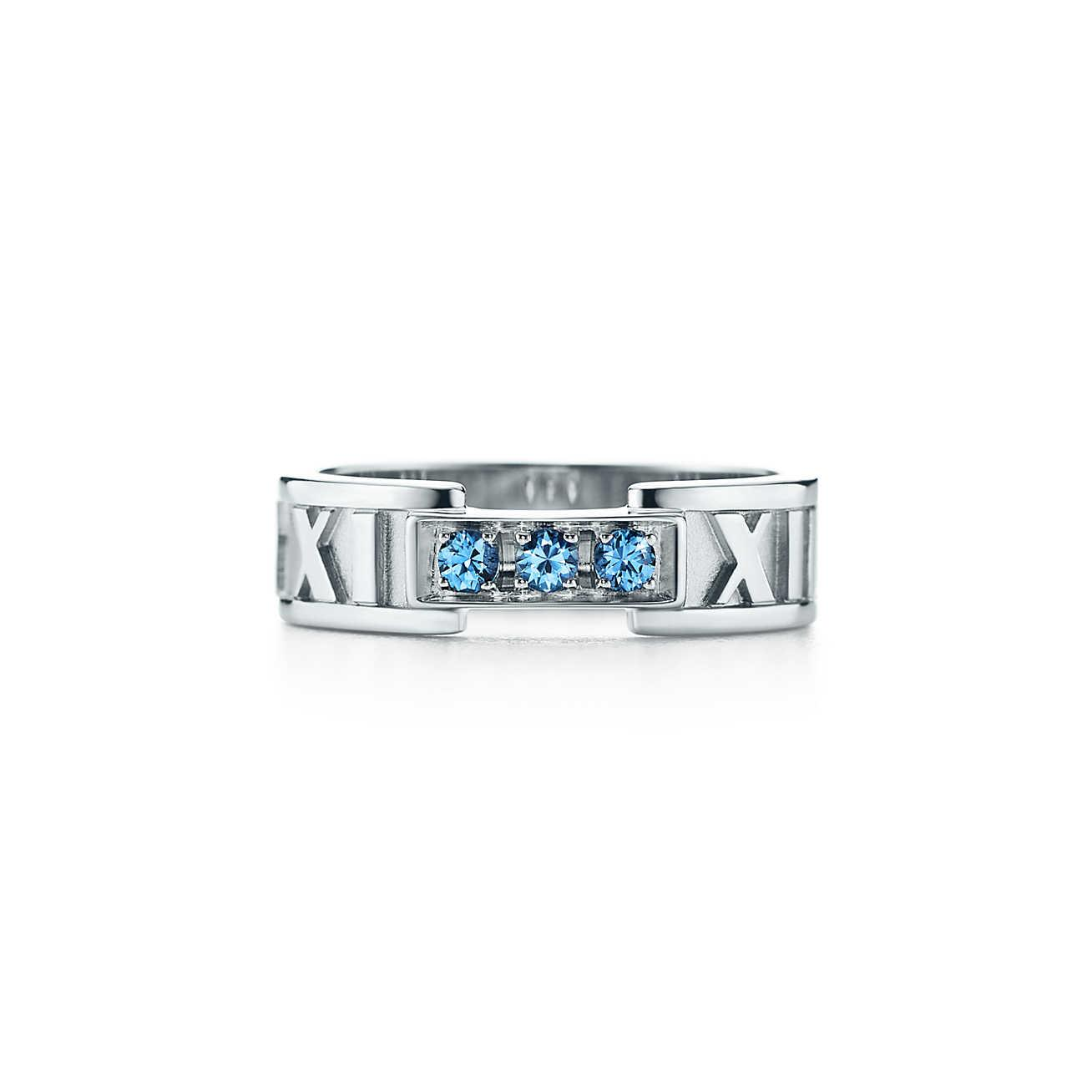c1353104d Tiffany & Co. Atlas® Closed Narrow Ring In 18ct White Gold With ...