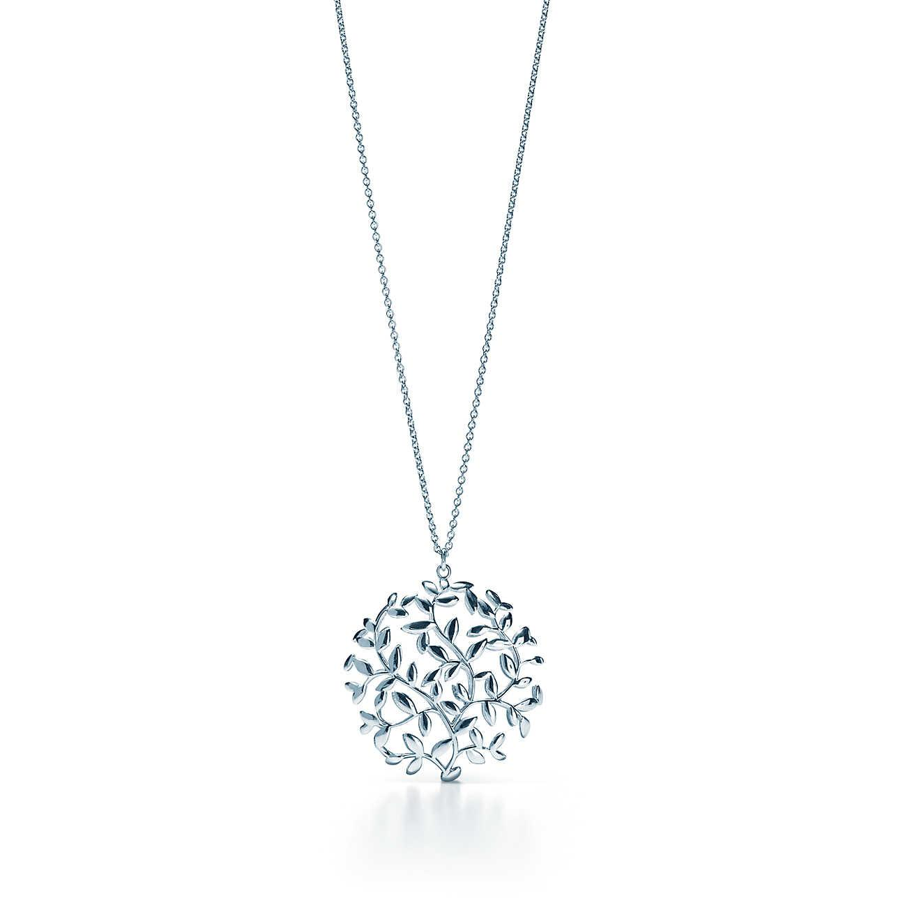 Paloma Picasso Olive Leaf pendant in sterling silver with a cultured pearl Tiffany & Co. vaTneaSJmT