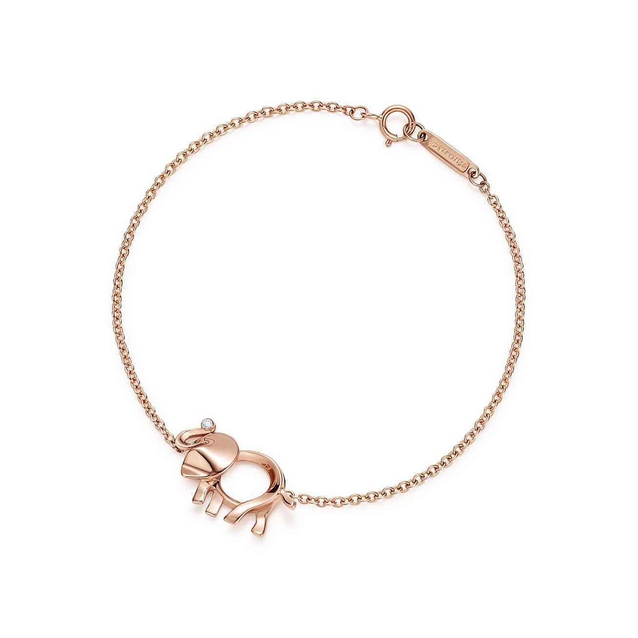 9ed7eb478 Tiffany & Co. Tiffany Save The Wild Elephant Charm Bracelet In 18k ...