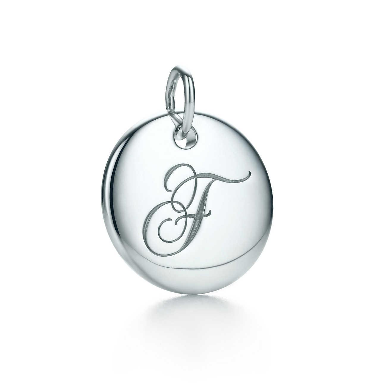 Tiffany Charms alphabet charm in sterling silver Letters A-Z available - Size U Tiffany & Co. lJIdfi