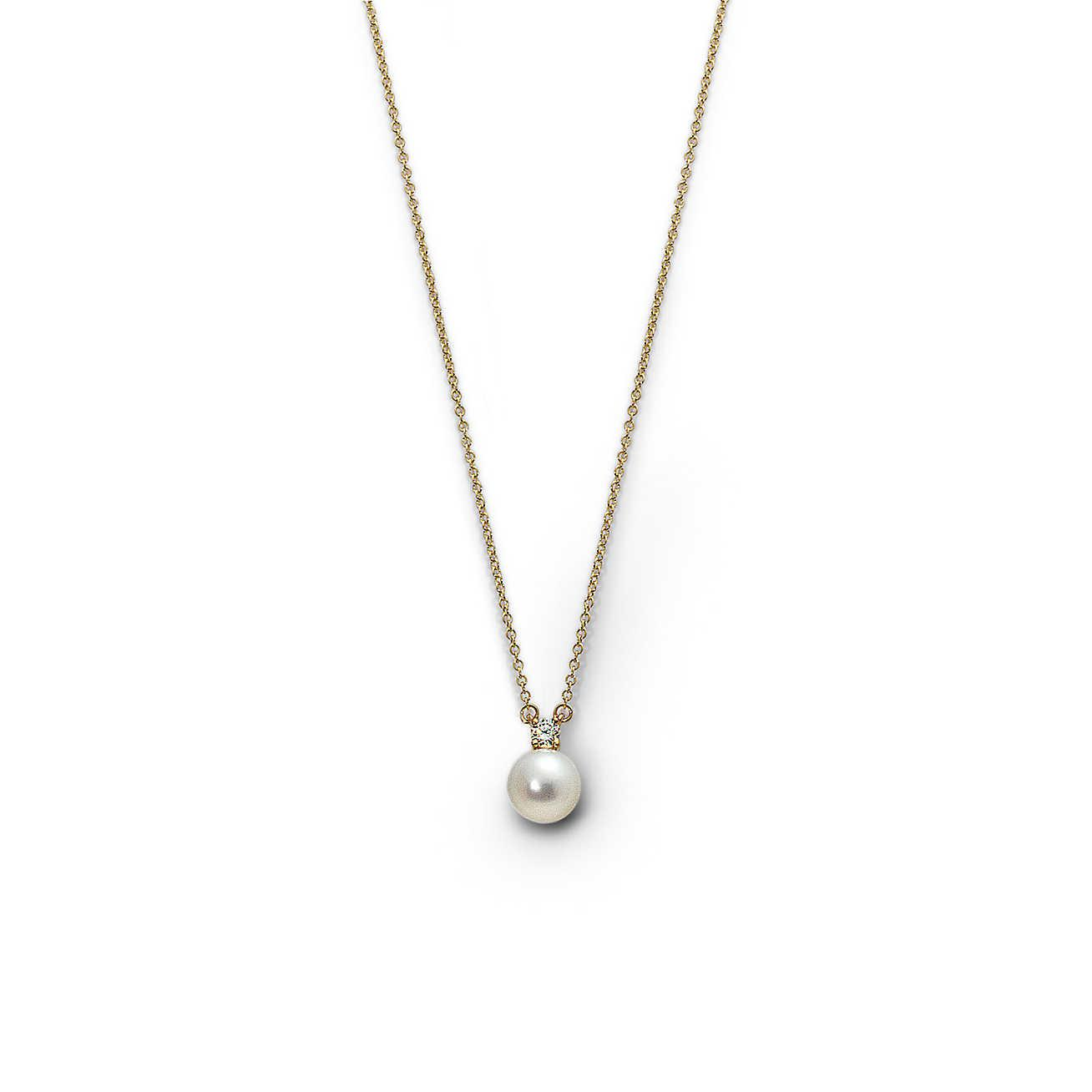 fb7de3bcc Tiffany & Co. Pendant With A Cultured Pearl And Diamond In 18k Gold ...