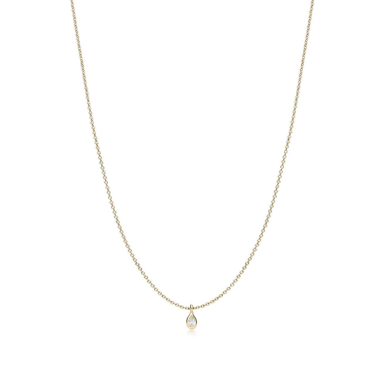 Elsa Peretti Diamonds by the Yard pendant in 18k rose gold - Size.07 Tiffany & Co. 1ZYqnHmou0