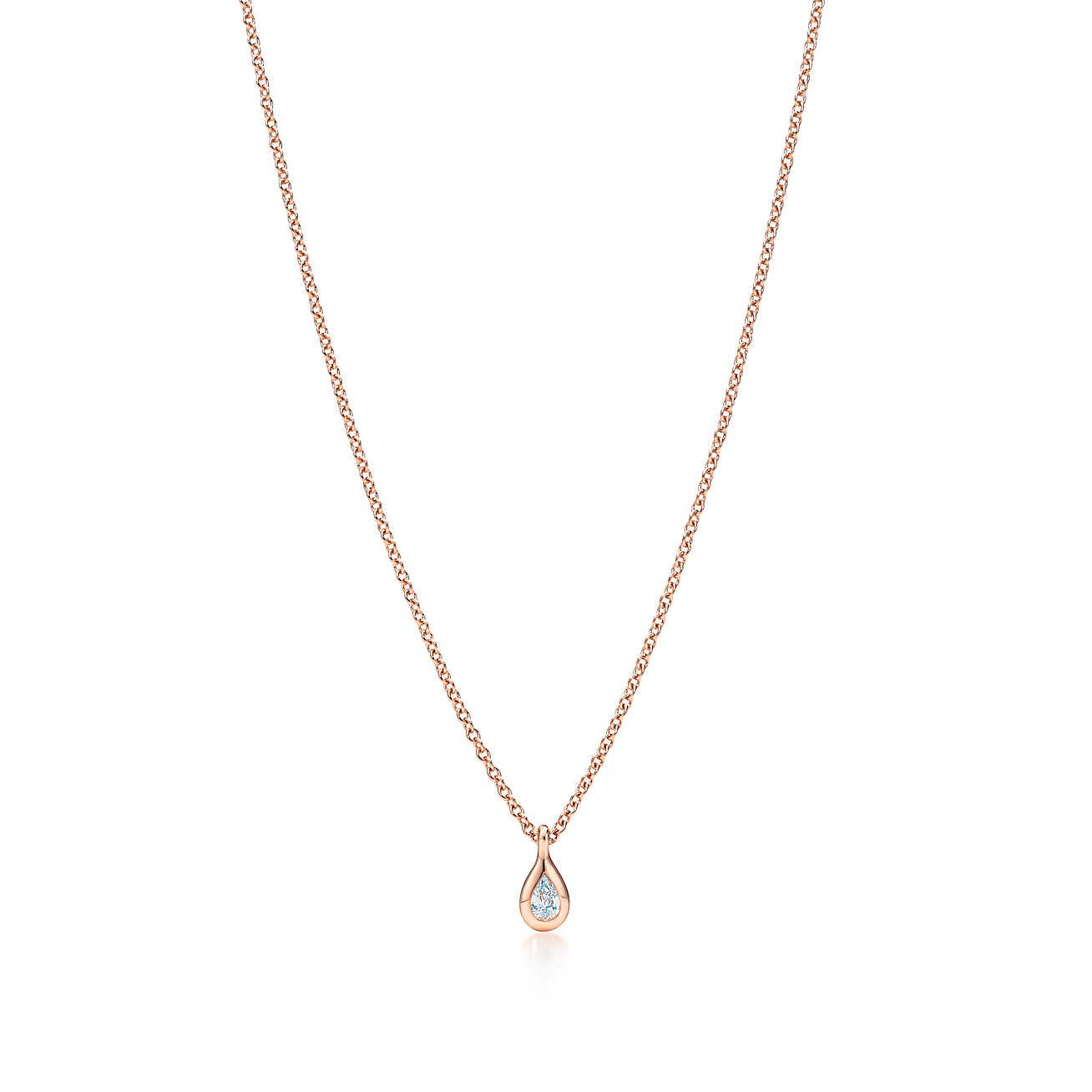 Elsa Peretti Diamonds by the Yard pendant in 18k rose gold - Size.03 Tiffany & Co. xaM9f