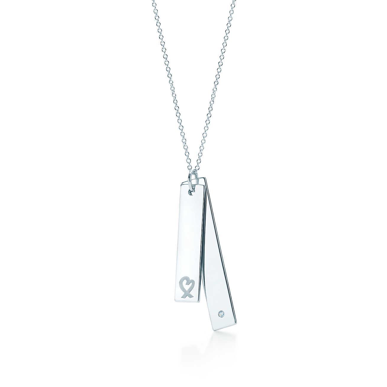 Tiffany co loving heart double bar pendant in metallic lyst tiffany co womens metallic loving heart double bar pendant aloadofball Gallery