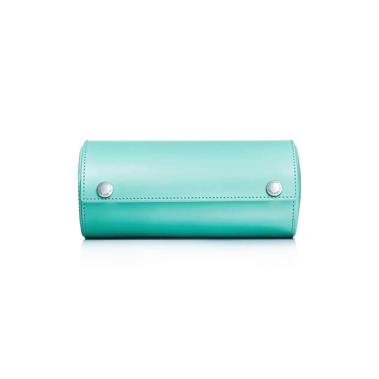 fe7d92bc9f Tiffany   Co Watch Roll In Tiffany Blue. Smooth Calfskin Leather in ...