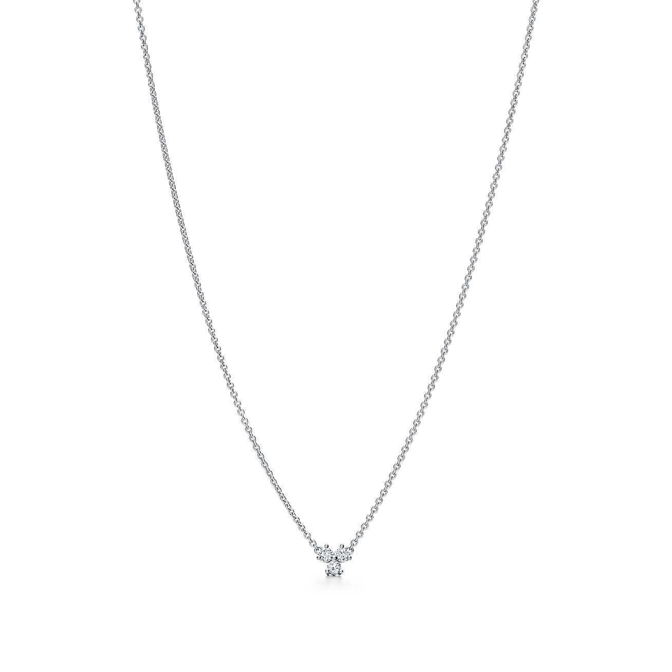 2f83b6296a04 Tiffany   Co. Women s Metallic Tiffany Aria Pendant In Platinum With  Diamonds