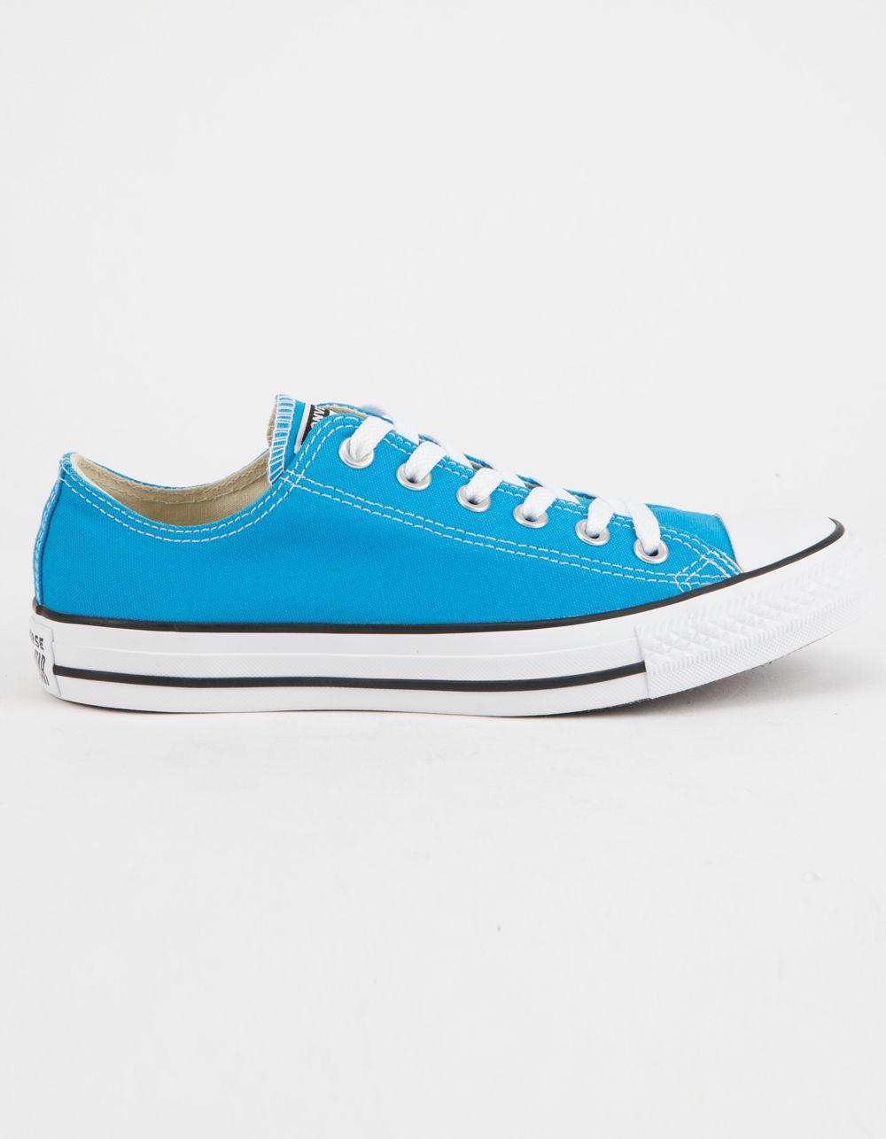 3389374133a Lyst - Converse Chuck Taylor All Star Blue Hero Low Top Womens Shoes ...
