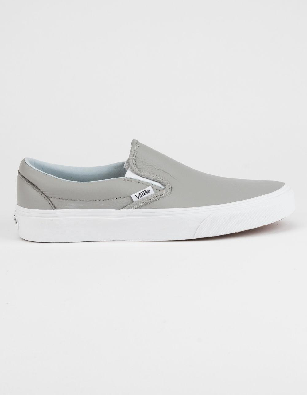 vans leather slip on