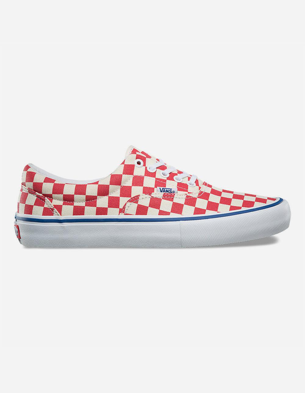 95c747adcb25 Vans - Red Checkerboard Era Pro Shoes - Lyst. View fullscreen