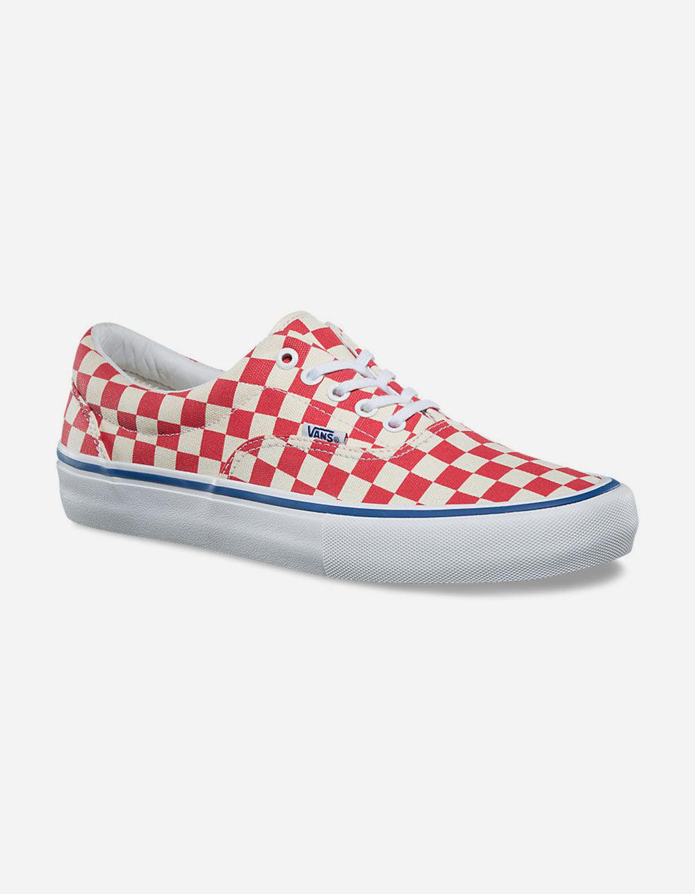 7f2f4ef5846e Lyst - Vans Checkerboard Era Pro Shoes in Red