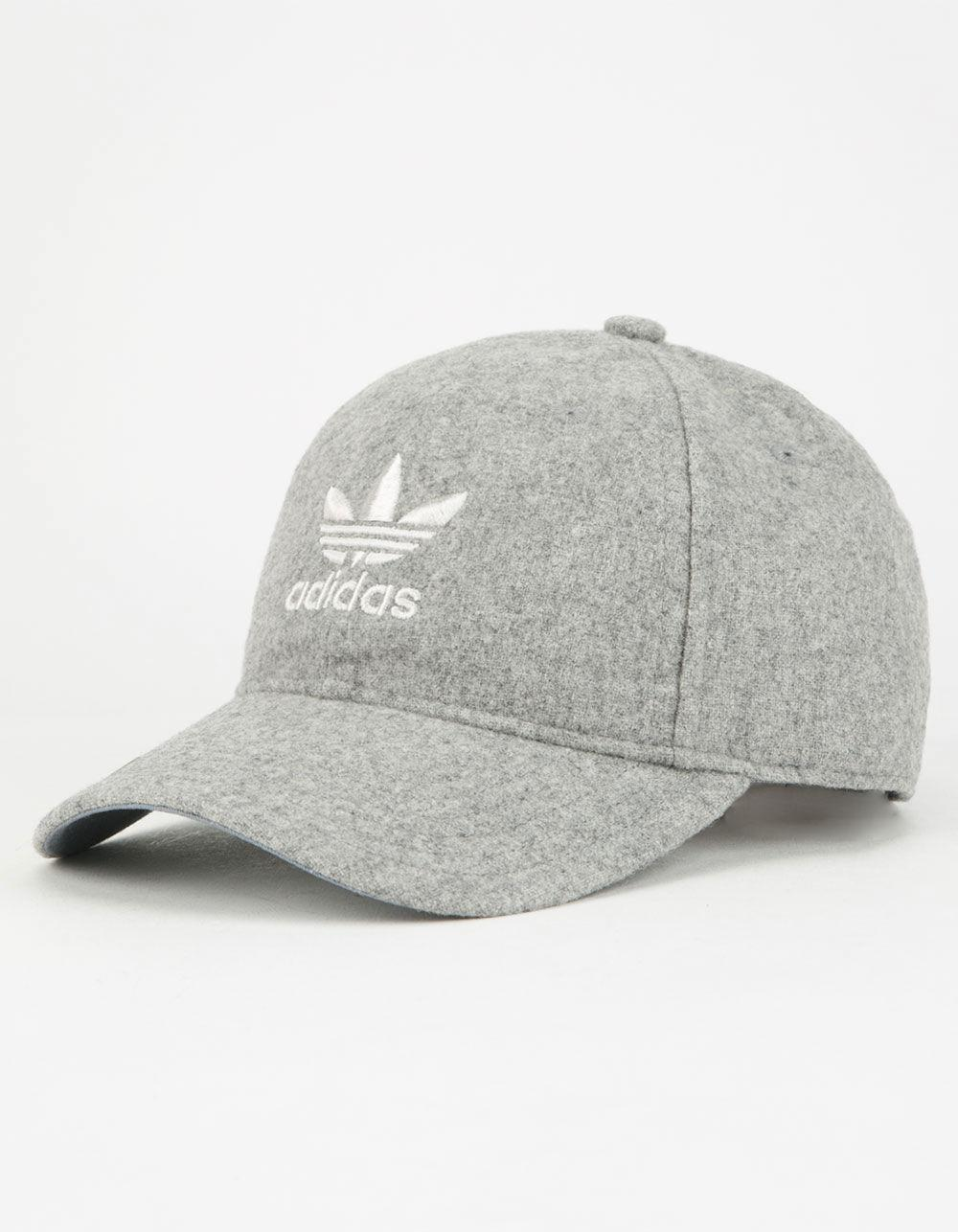 Lyst - adidas Originals Relaxed Plus Womens Strapback Hat in Gray 9ecbdcd084