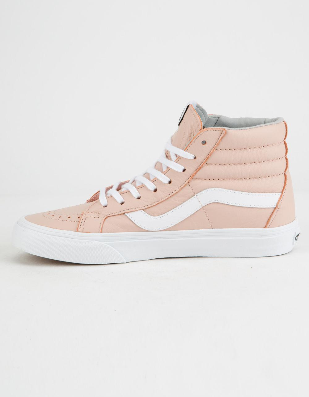 a5ef50cc661bcd Lyst - Vans Sk8-hi Reissue Leather Oxford   Evening Sand Womens Shoes