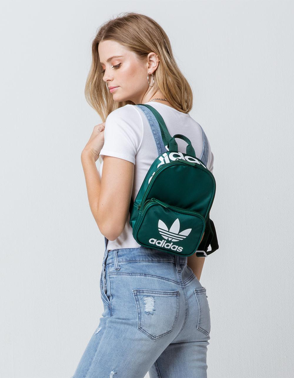 7a51b36bb80 Lyst - adidas Originals Santiago Green Mini Backpack in Green