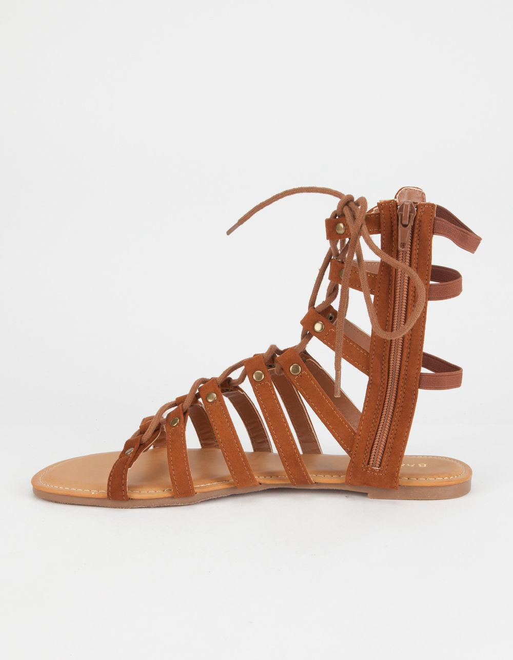f39b2d6f04f Lyst - Bamboo Ghillie Womens Gladiator Sandals in Brown