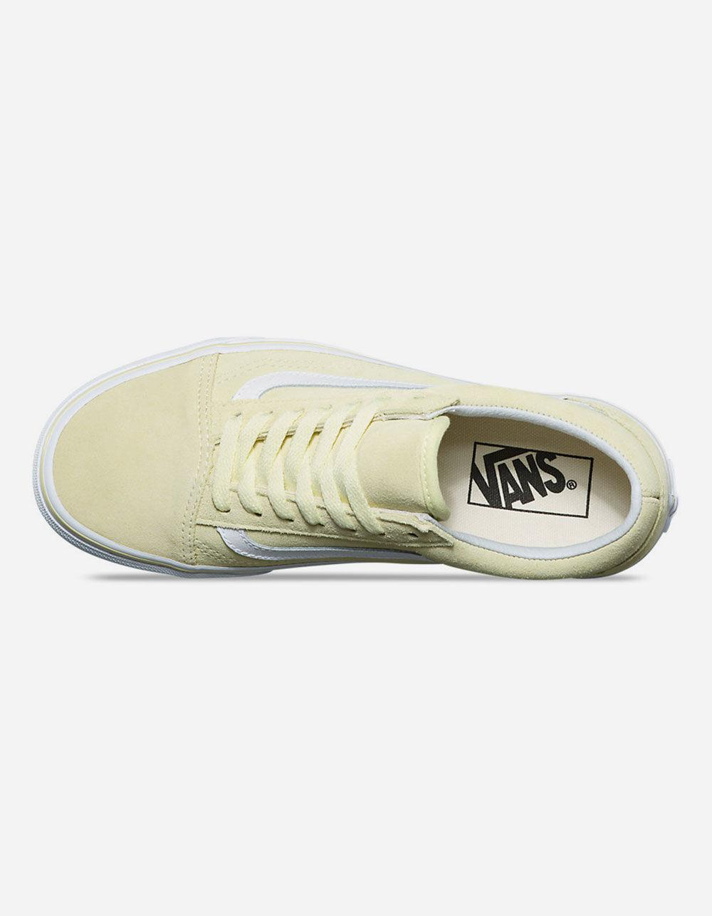 Vans - Old Skool Suede Tender Yellow   True White Womens Shoes - Lyst. View  fullscreen e36daf87d