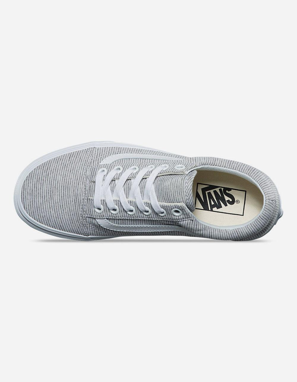 0d2cc53e09 Lyst - Vans Jersey Old Skool Grey   True White Womens Shoes in Gray