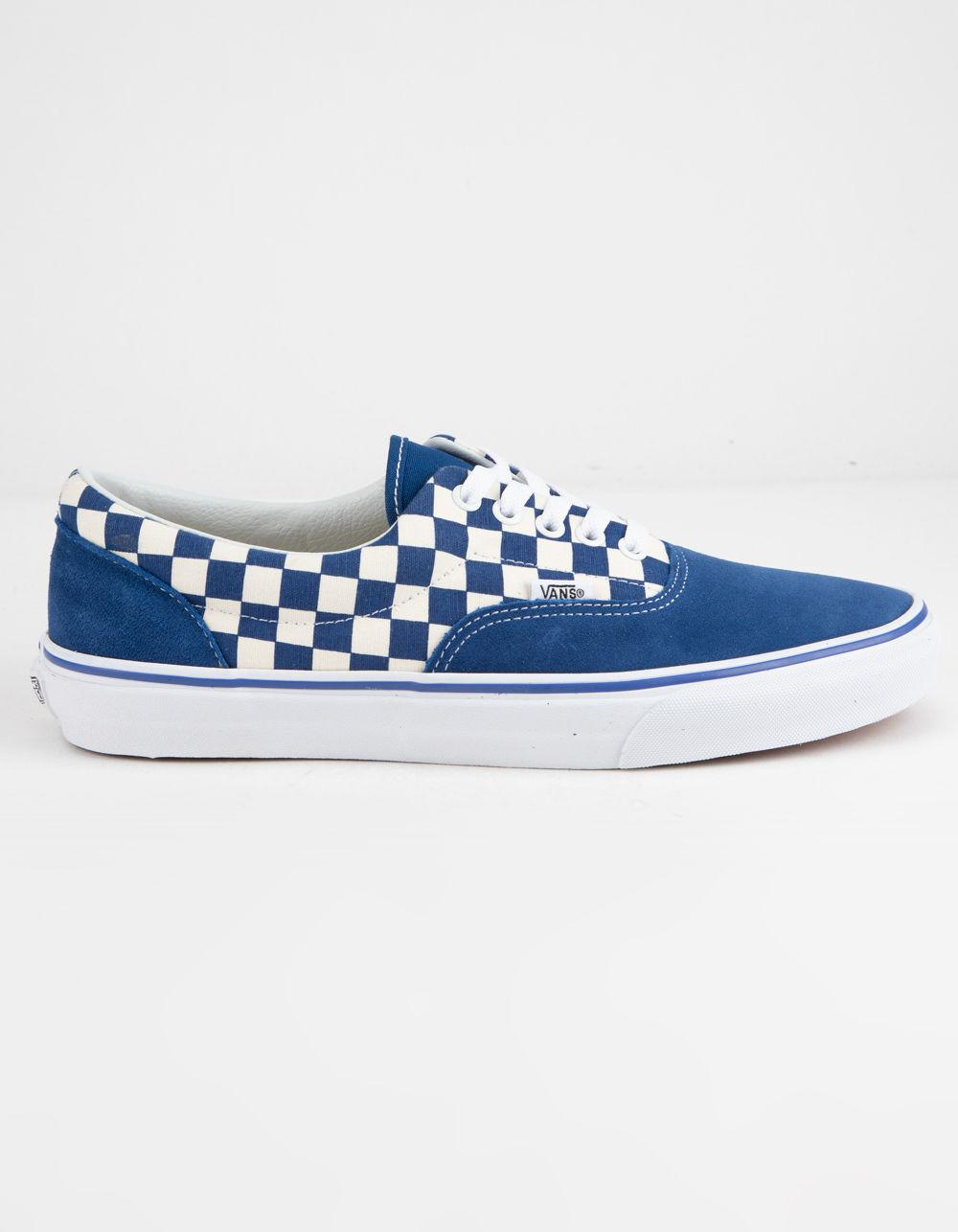 Lyst - Vans Primary Check Era True Blue   White Shoes in Blue - Save 2% 0ce6183e3