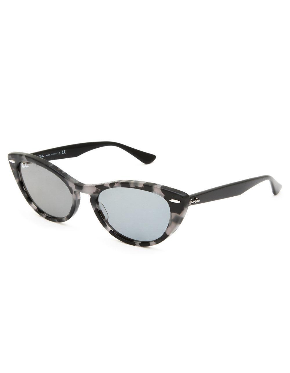 0f291b437e Lyst - Ray-Ban Nina Gray Havana   Black Sunglasses in Black