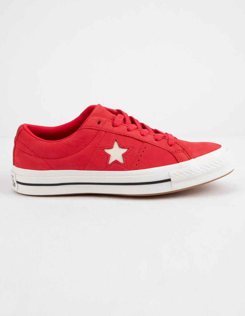aaccc4822d1c Lyst - Converse One Star Ox Cherry Red   Vintage White Womens Low ...