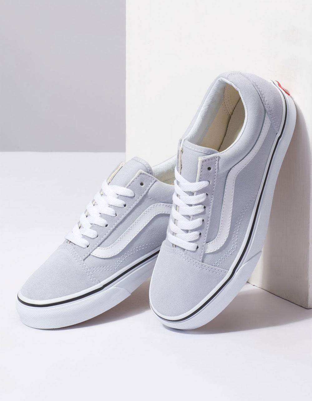 Old Skool Gray Dawn & True White Womens Shoes