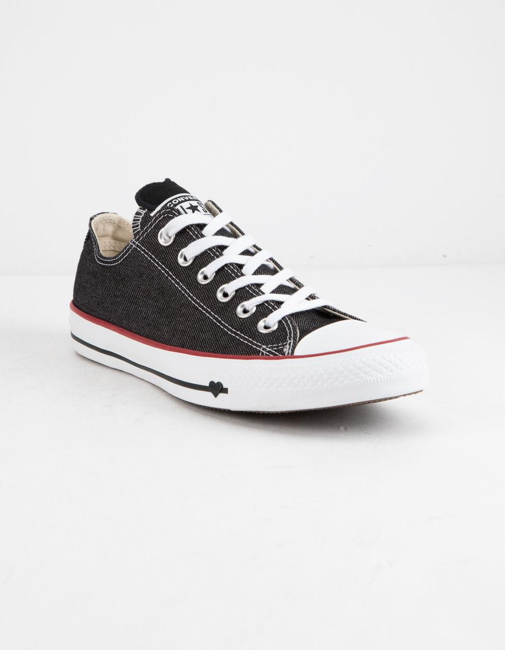 17d274a5dab5 Lyst - Converse Chuck Taylor All Star Denim Love Low Top Womens Shoes in  Black
