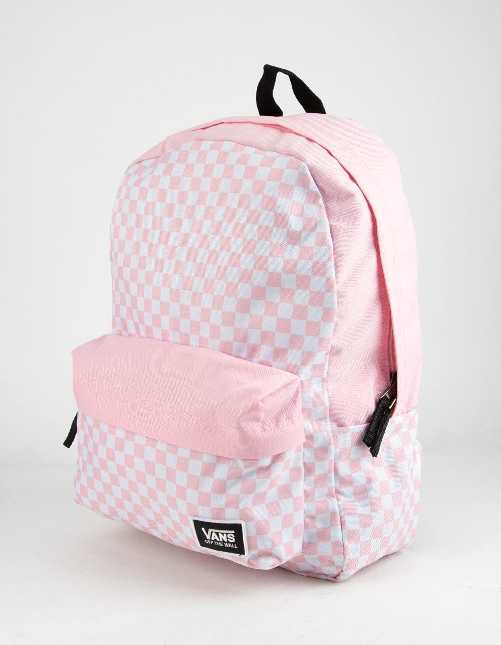 02eb1eff007 Lyst - Vans Realm Classic Fairy Tale Checkerboard Backpack in Pink