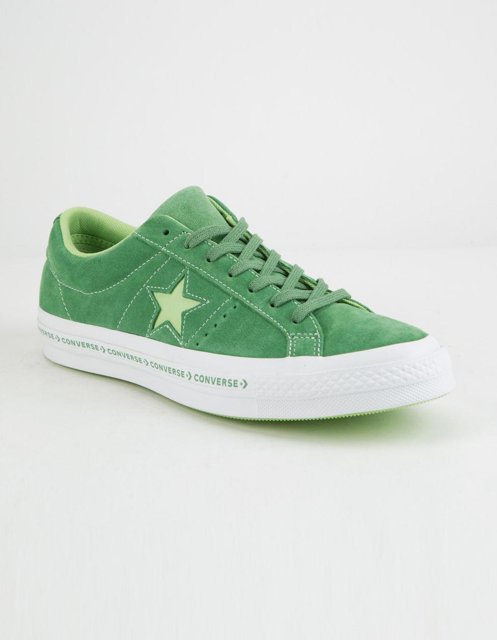 Converse ONE STAR - OX PINESTRIPE - Trainers - mint green/jade lime/white mRXTOHAg