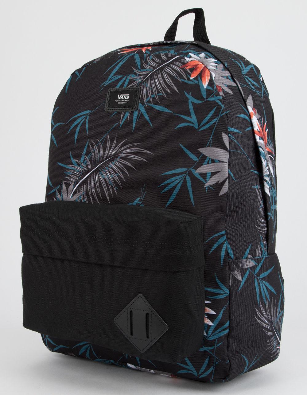 dbfd5237dcb9 Lyst - Vans Old Skool Ii Peace Out Floral Backpack in Black