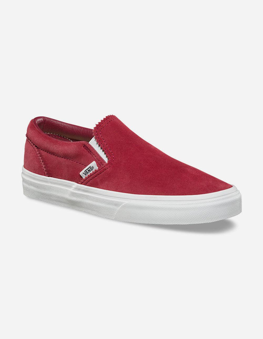 6f37f74392 Lyst - Vans Pinked Suede Apple Butter   Blanc De Blanc Classic Slip ...