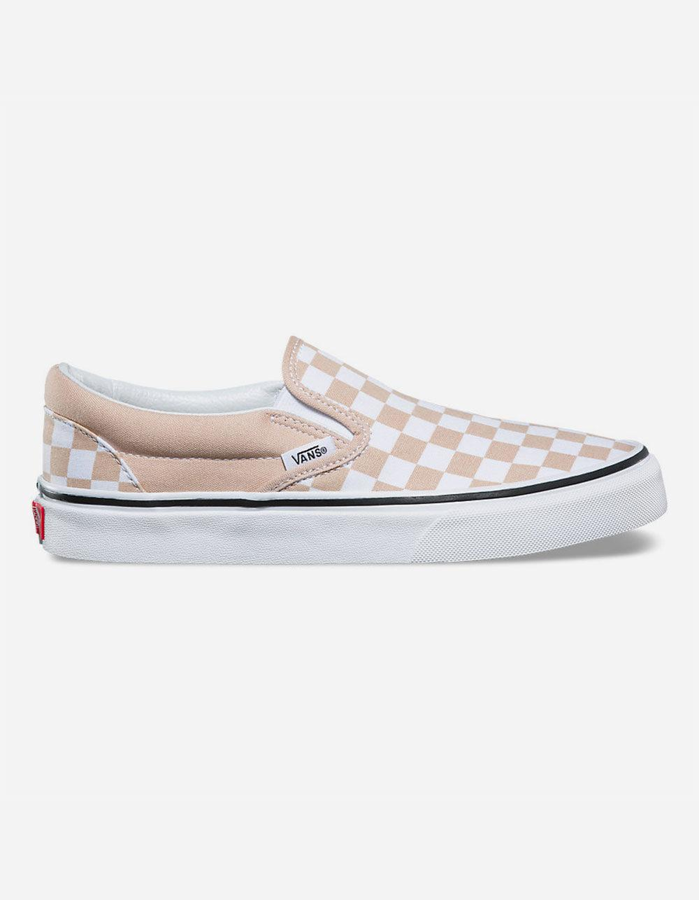 fa718bca72 Lyst - Vans Checkerboard Frappe   True White Classic Slip-on Womens ...