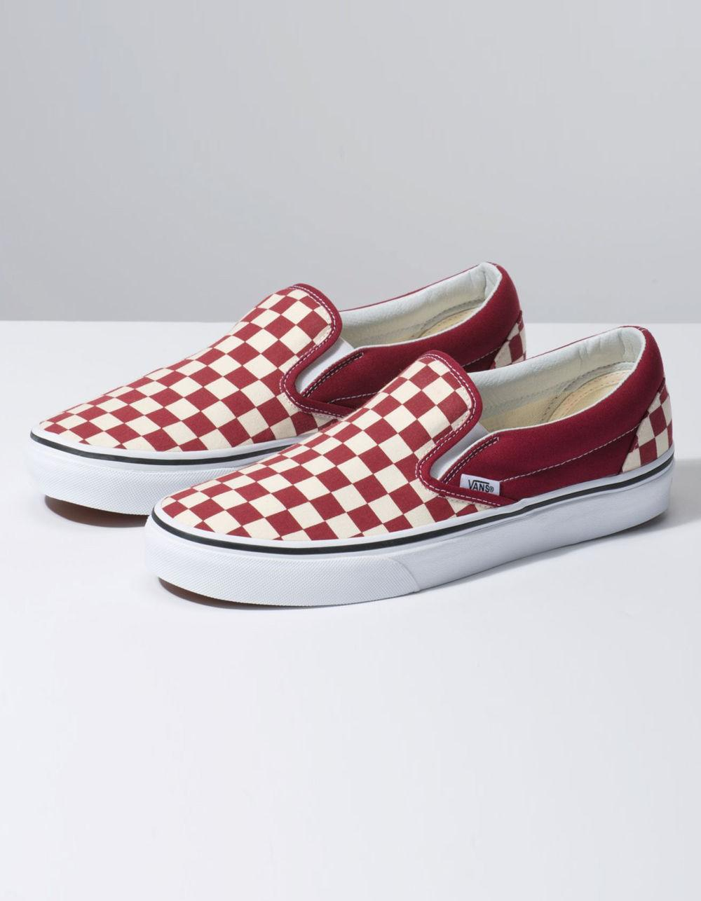 d64c7d24b1 Lyst - Vans Checkerboard Classic Slip-on Rumba Red   True White Shoes in Red