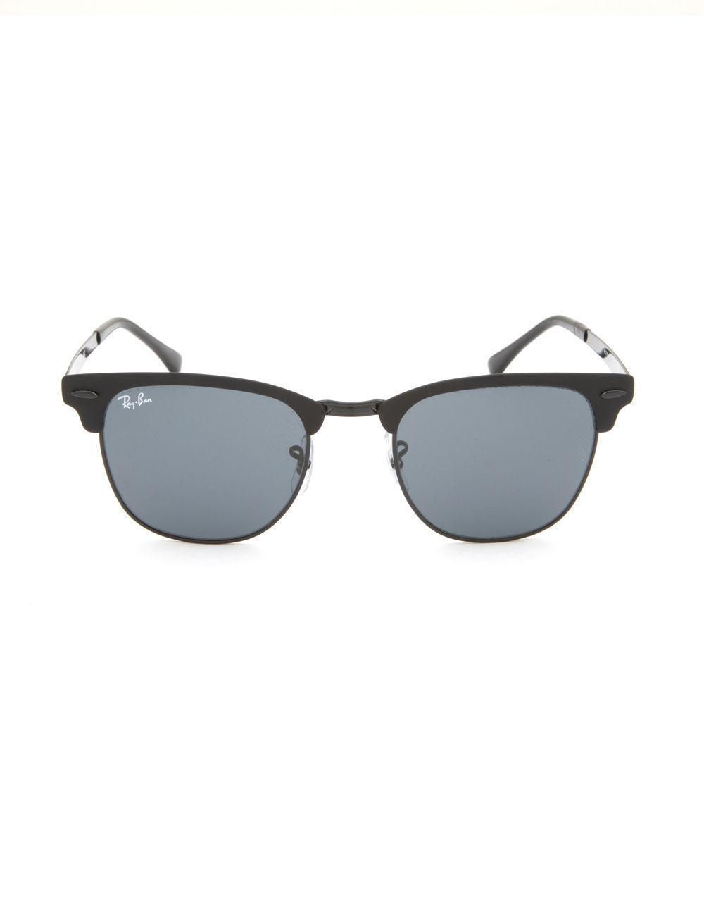 098d56e0fa Lyst - Ray-Ban Clubmaster Metal Black   Black Gradient Sunglasses in Black