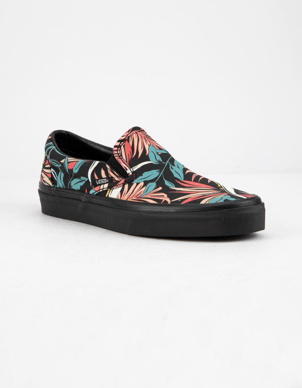 21b0cc3586 Lyst - Vans California Floral Classic Slip-on Womens Shoes in Black