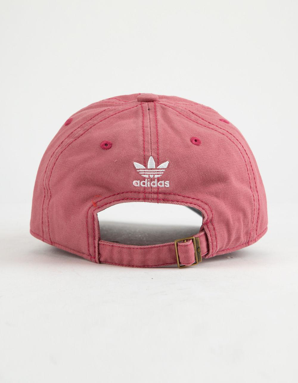 5f67d3d7b adidas Originals Relaxed Trace Maroon & White Womens Strapback Hat ...