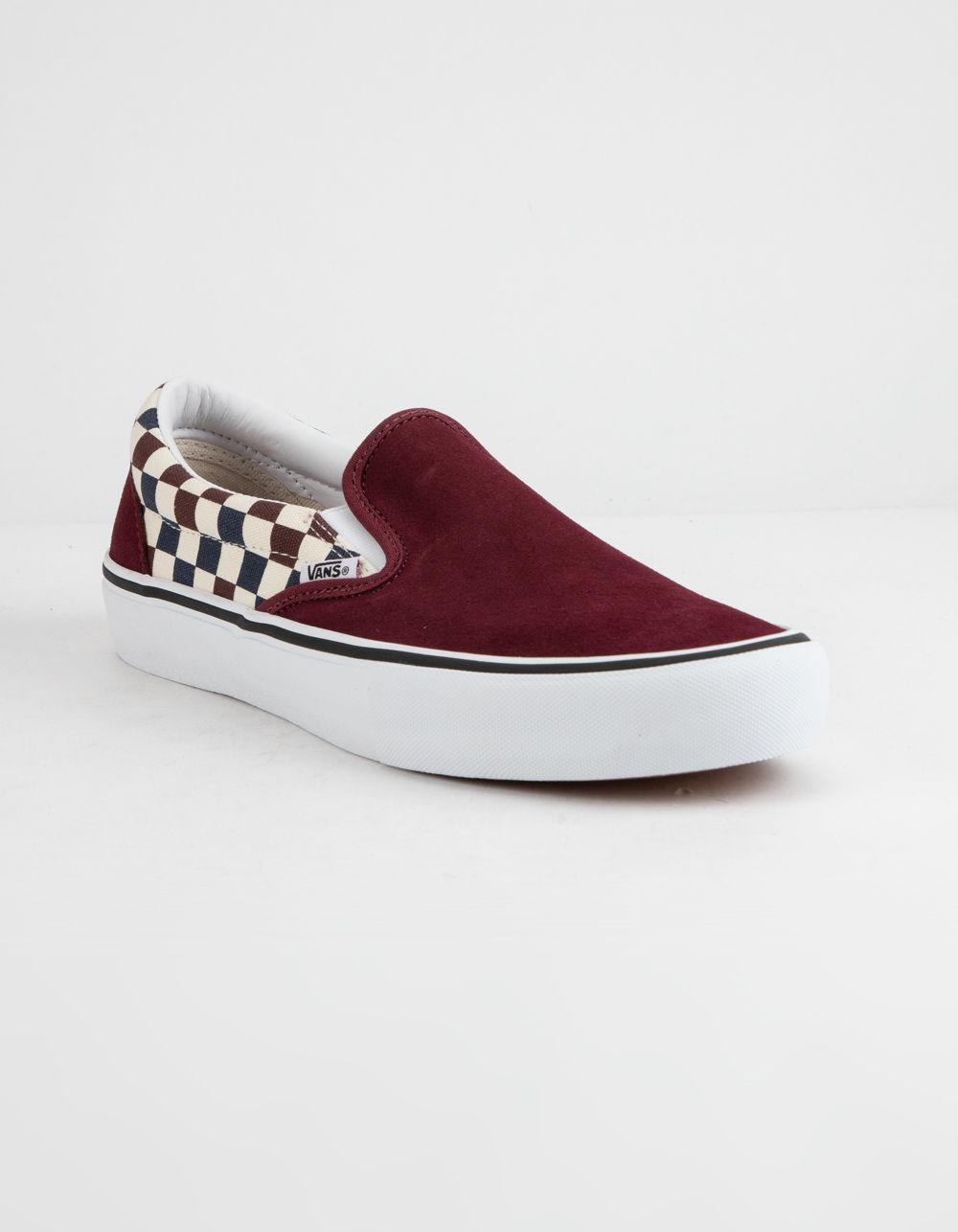 Lyst - Vans Checkerboard Slip-on Pro Port Royal Royal Shoes in Red c2cc7880a