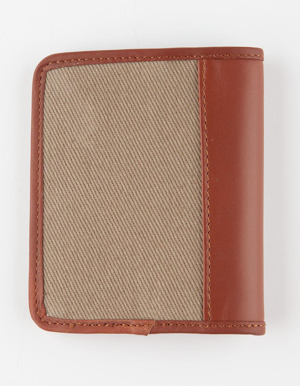 RVCA Men/'s Stockholm Wallet Dark Khaki NEW